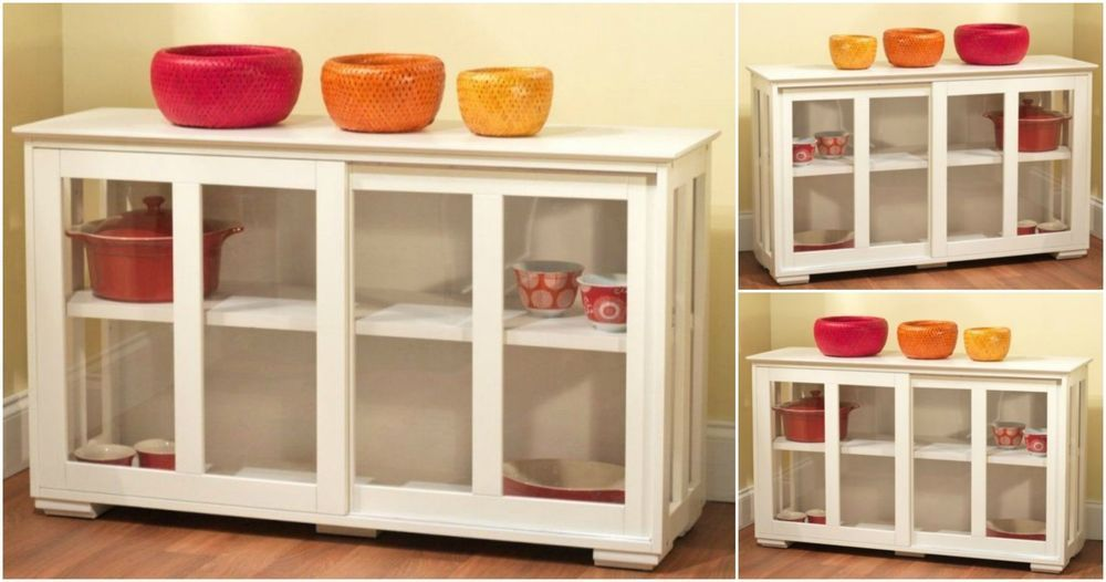 Buffet Storage Cabinet Dining Living Room Kitchen Sideboard Extraordinary Dining Room Cupboard Design Inspiration
