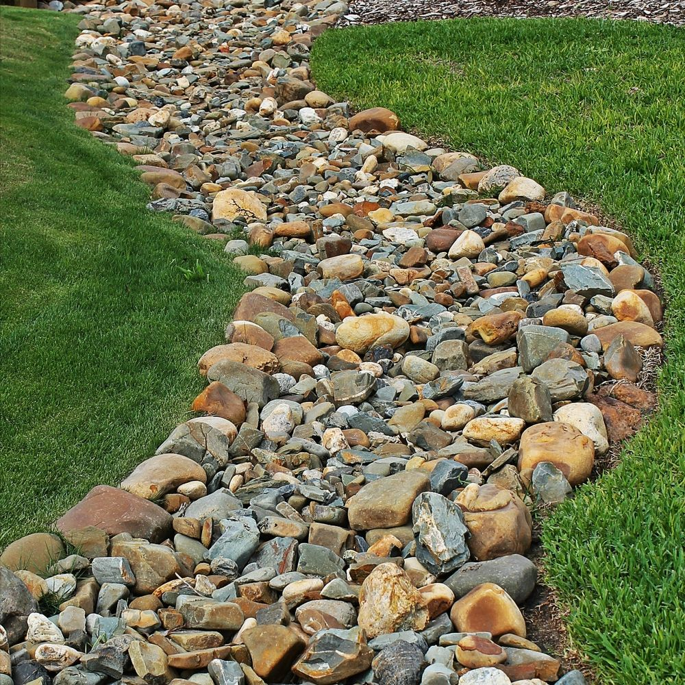 Landscaping With River Rock Dry River Rock Garden Ideas: River Rock Dry Creek Bed