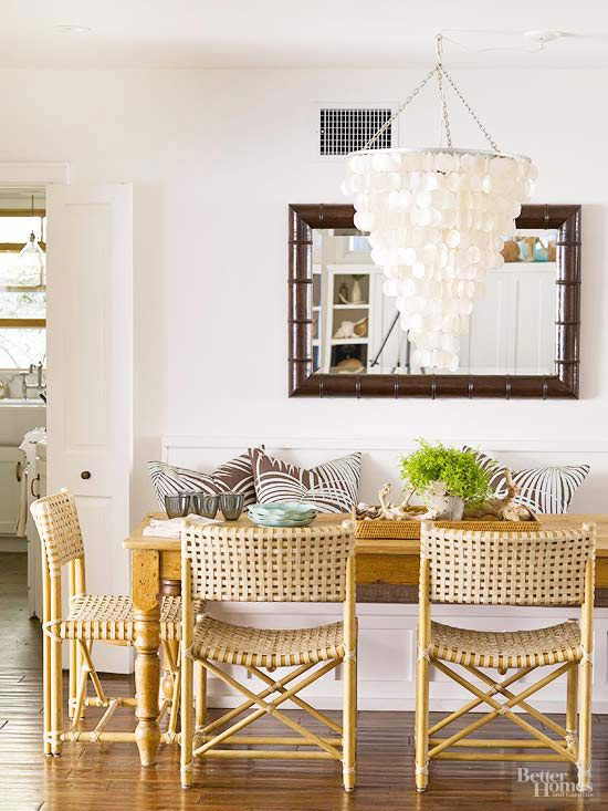 Armless chairs that can shimmy under the dining room table=more floor space. You're welcome.