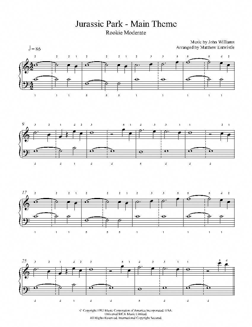 A Dream Is A Wish Your Heart Makes Cello Sheet Music Jurassic Park Theme By John Williams Piano Sheet Music Rookie Level Pianolessons Piano Sheet Piano Sheet Music Clarinet Sheet Music