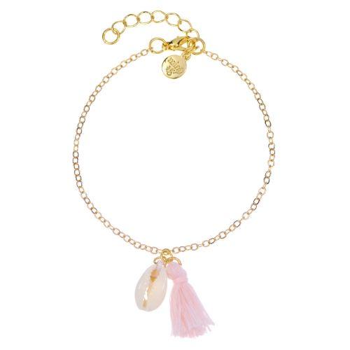 Shell & Tassel Bracelet - Mint15