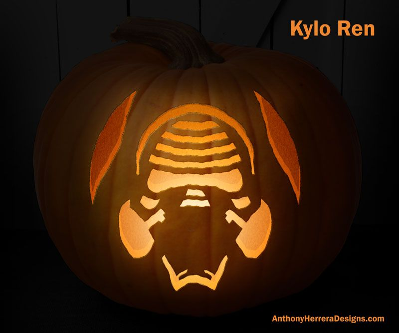 Print and Carve Out Star Wars Pumpkins! Kylo Ren