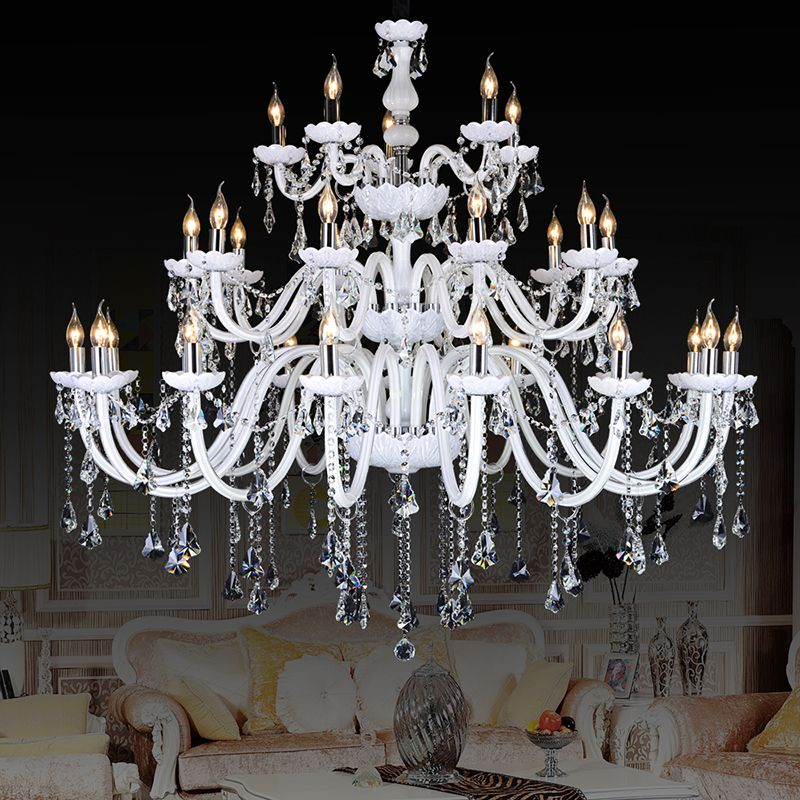 Modern Crystal Chandelier lighting luminaire lights Fixtures dining