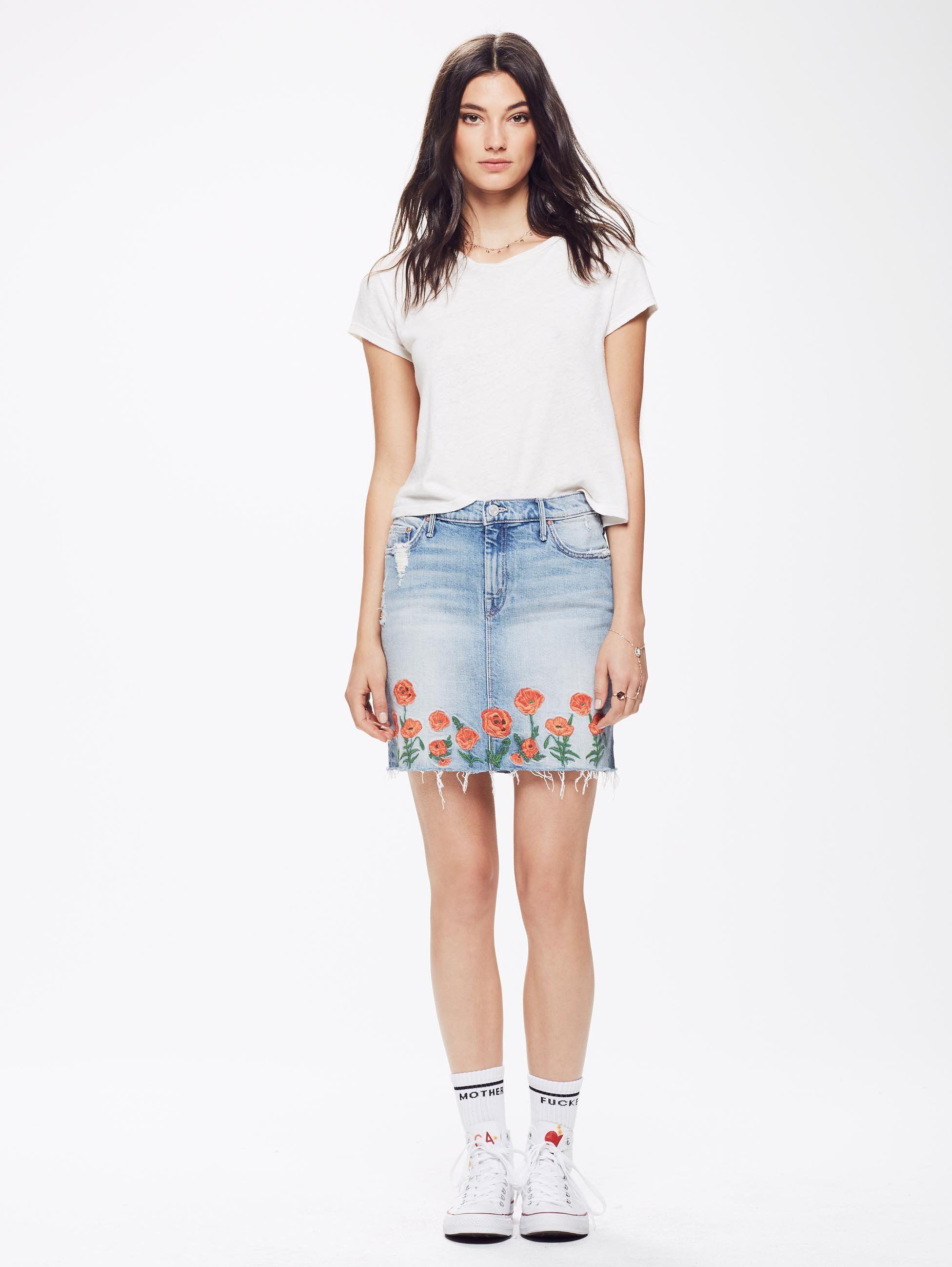 How to high wear waisted denim skirts