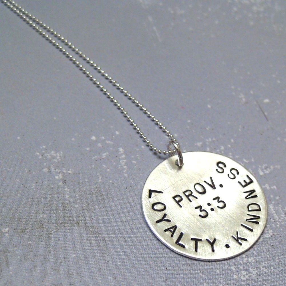 Loyalty and Kindness Scripture Necklace - can be customized ...