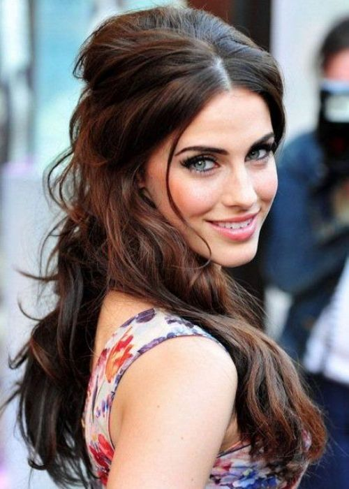 Jessica Lowndes Half Up Down Hairstyle Brunette Bombshell