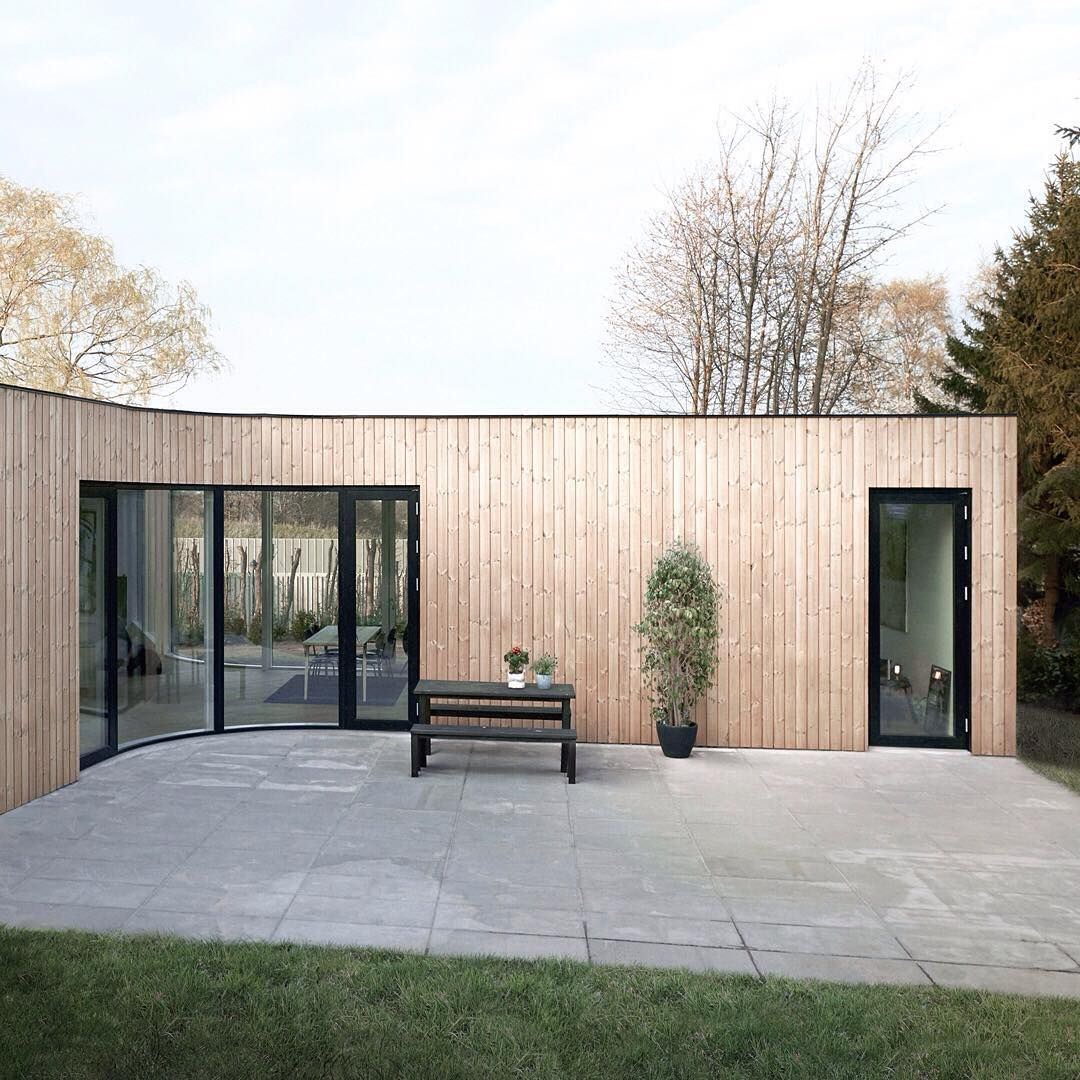 Next In Our Roundup Of Prefabricated Buildings Is This Timber Clad