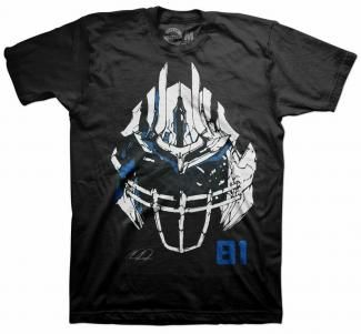 Megatron Mask Calvin Johnson T-shirt Be a megaton and transform into Calvin Johnson Officially licensed by the NFLPA www.freshbrewedtees.com