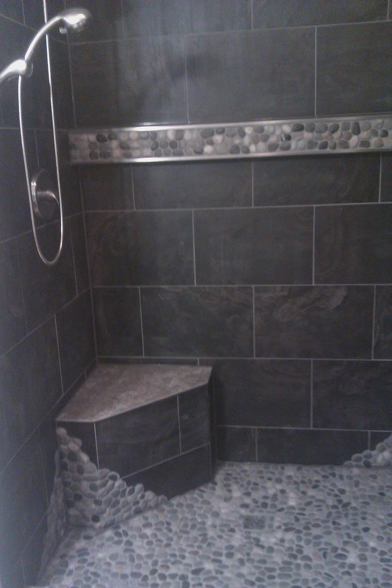 Stone Showers | Black Stone Shower
