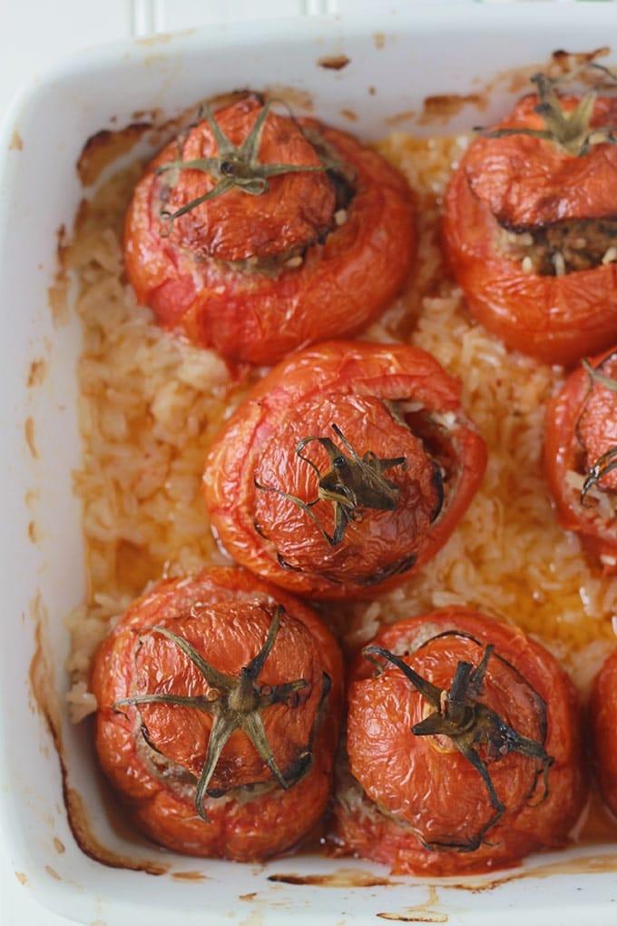 Tomates Farcies Et Riz Au Four Recipe Food Food Recipes Cooking