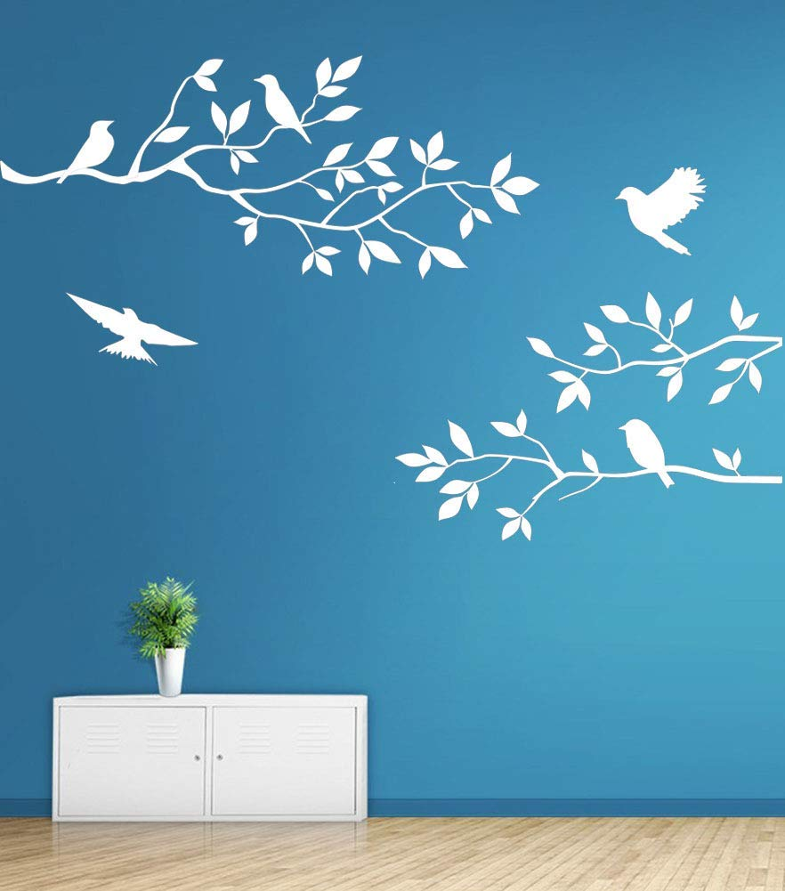 Love as wind Birds Branch Home Decor Removable Wall Sticker Decal Decorations