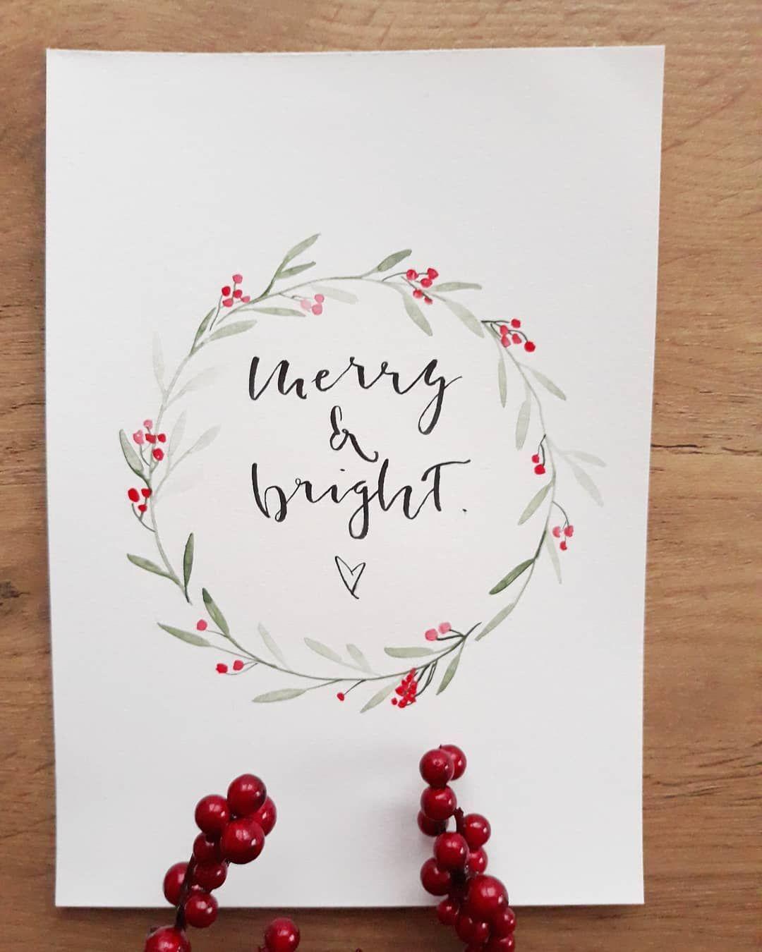 """Annett on Instagram: """"Habt alle ein paar ruhige und besinnliche Tage und genießt die Zeit für euch. �� . . #merrychristmas #christmas #weihnachten #lettering…"""""""