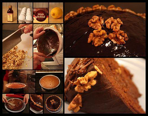 chocolatty-walnutty-punchy cake