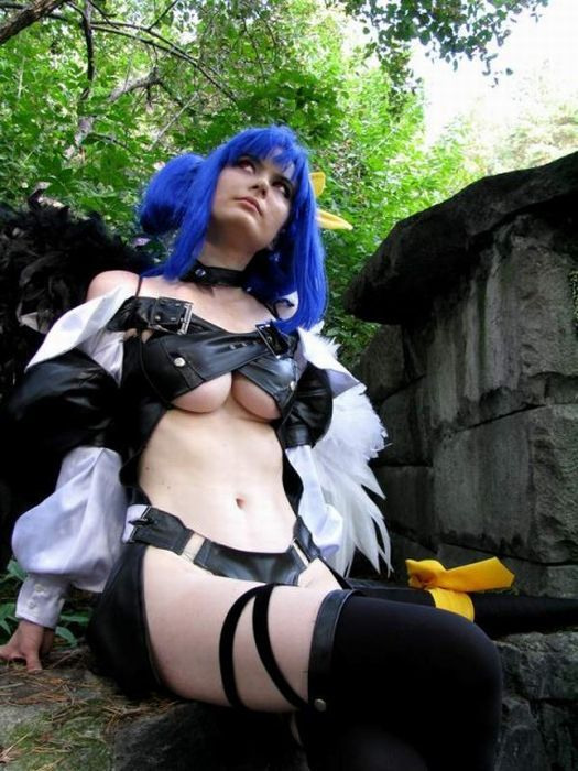 Cosplay sexy boobs