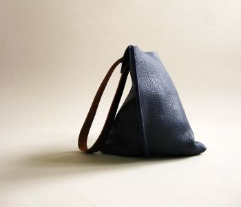 black slouchy leather bag.