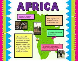 Make A Poster About Africa School Project Poster Ideas School
