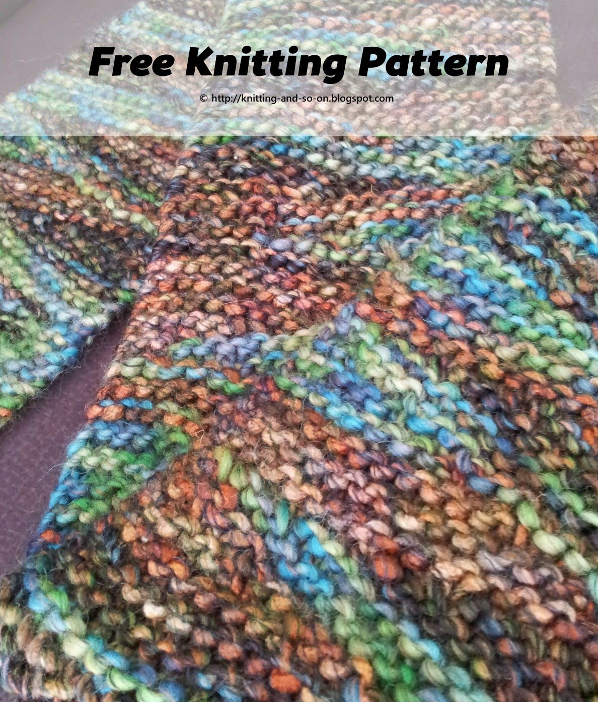 Free Knitting Pattern: Yet Another Short Row Scarf #craft | Knitting ...