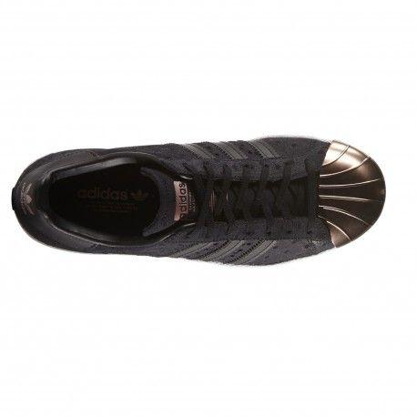 08c05eccbd97f Zapatilla Superstar Negra Punta Cobre de Adidas Original