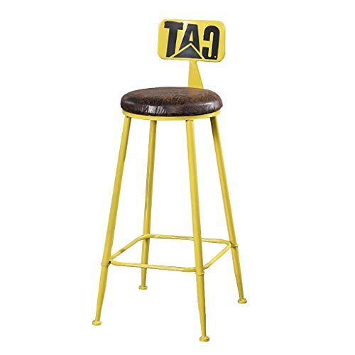 Vintage Industrial Barstool Retro Breakfast Bar Height Stool