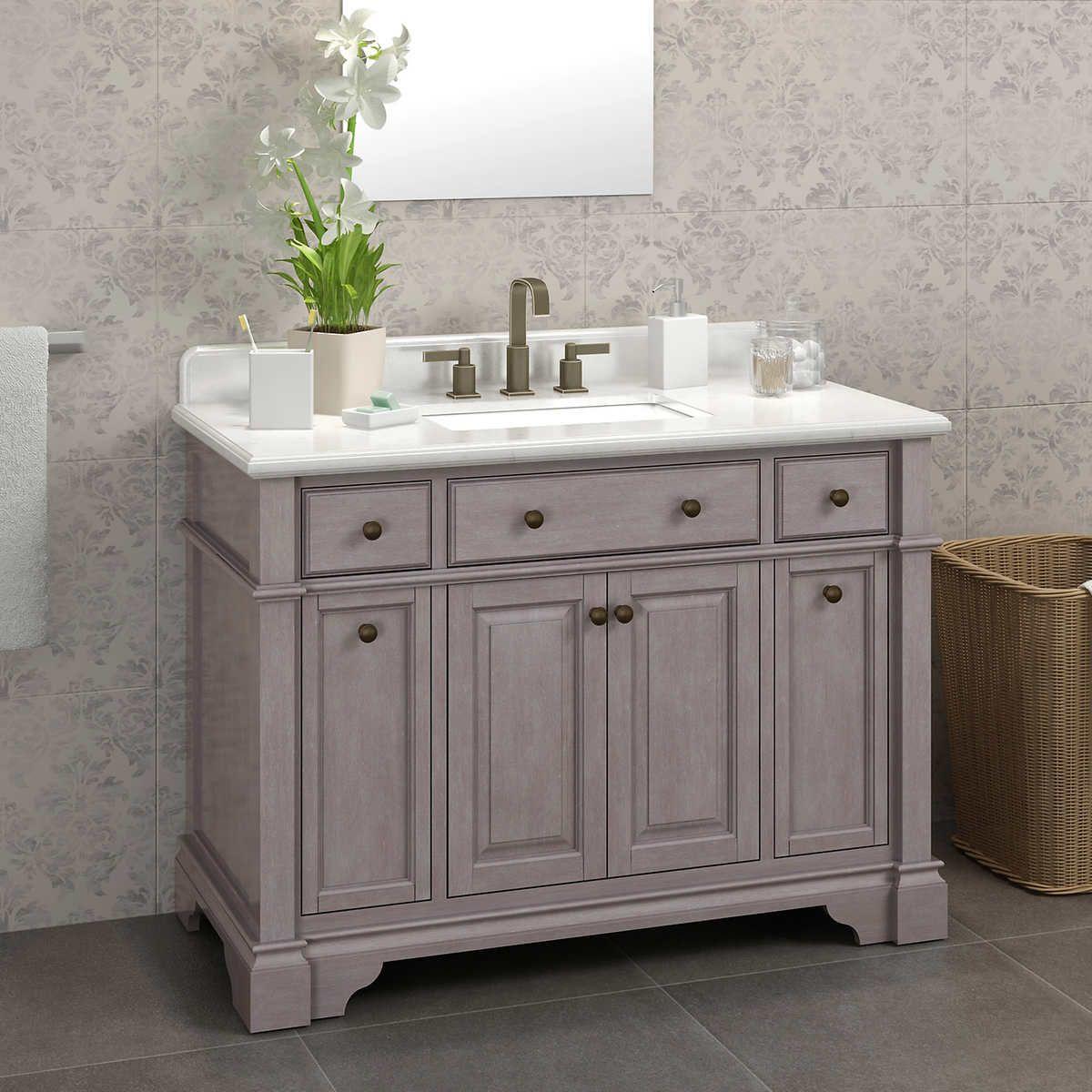 Casanova 48 Antique Gray Vanity By Lanza Double Sink Vanity Bathroom Vanity Vanity Sink