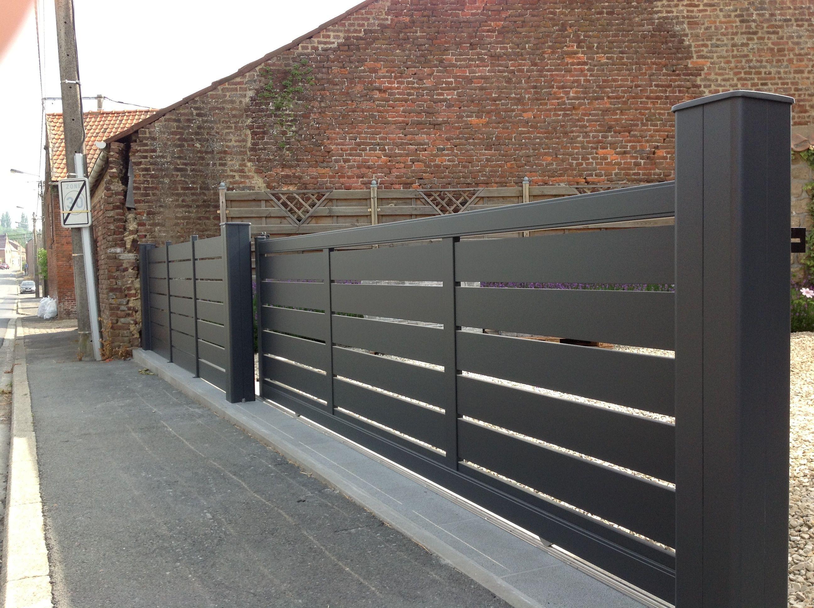 portail coulissant maez et palissade jpg 2592 1936 portail palissade pinterest portail. Black Bedroom Furniture Sets. Home Design Ideas