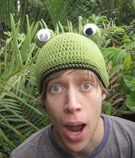 10ceda671cd crochetroo  Frog Beanie for a dorky kid (free crochet pattern ...