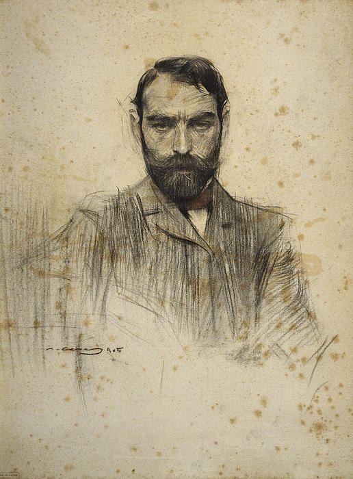 Portrait Of Gustave Violet  Ramon Casas