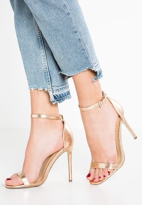 Missguided High Heel Sandaletten Rose Gold Zalando De Schuhe