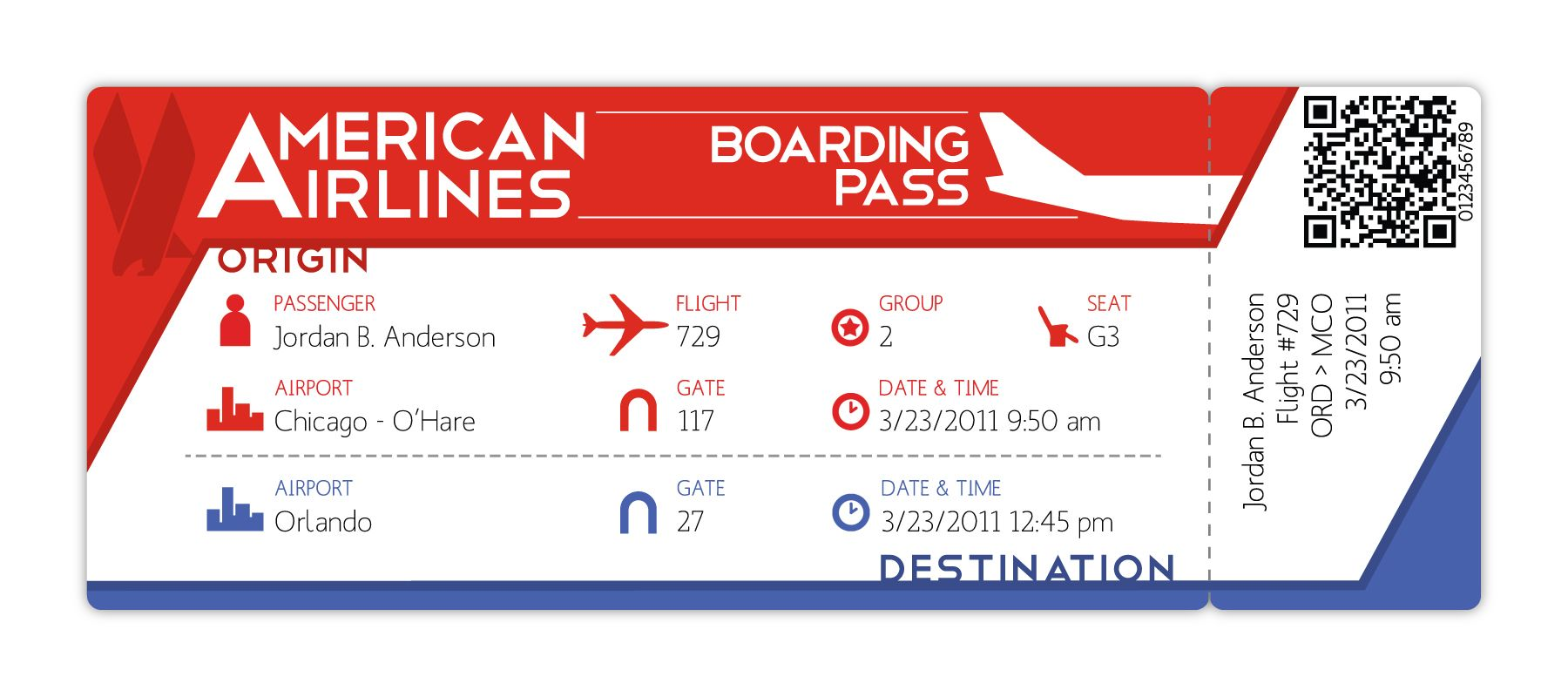 Cool Design Boarding Pass  Google Search  Print Design