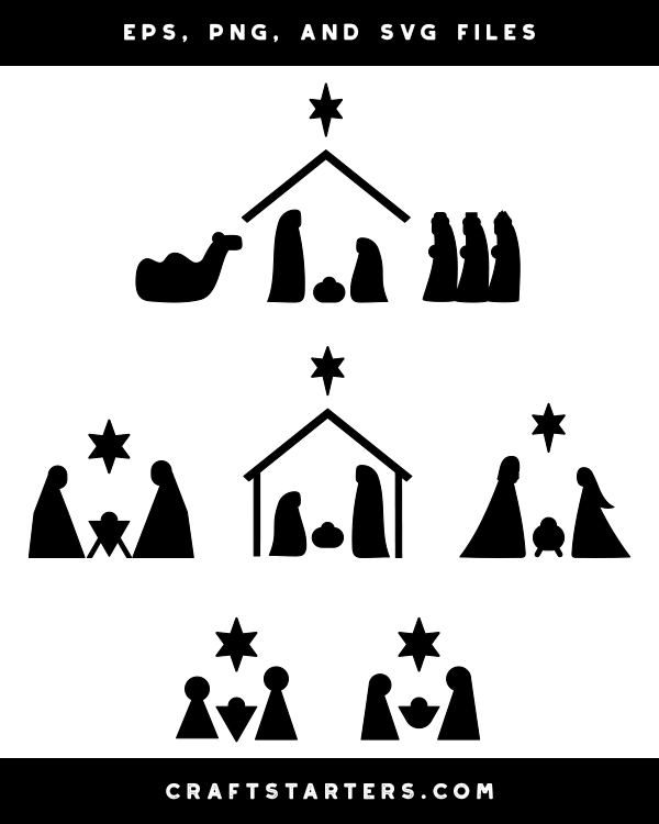 Simple Nativity Scene Silhouette Clip Art Nativity Scene Silhouette Simple Nativity Nativity Scene