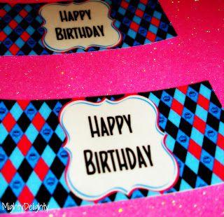 Monster High Happy Birthday Labels Free Printable Com Imagens