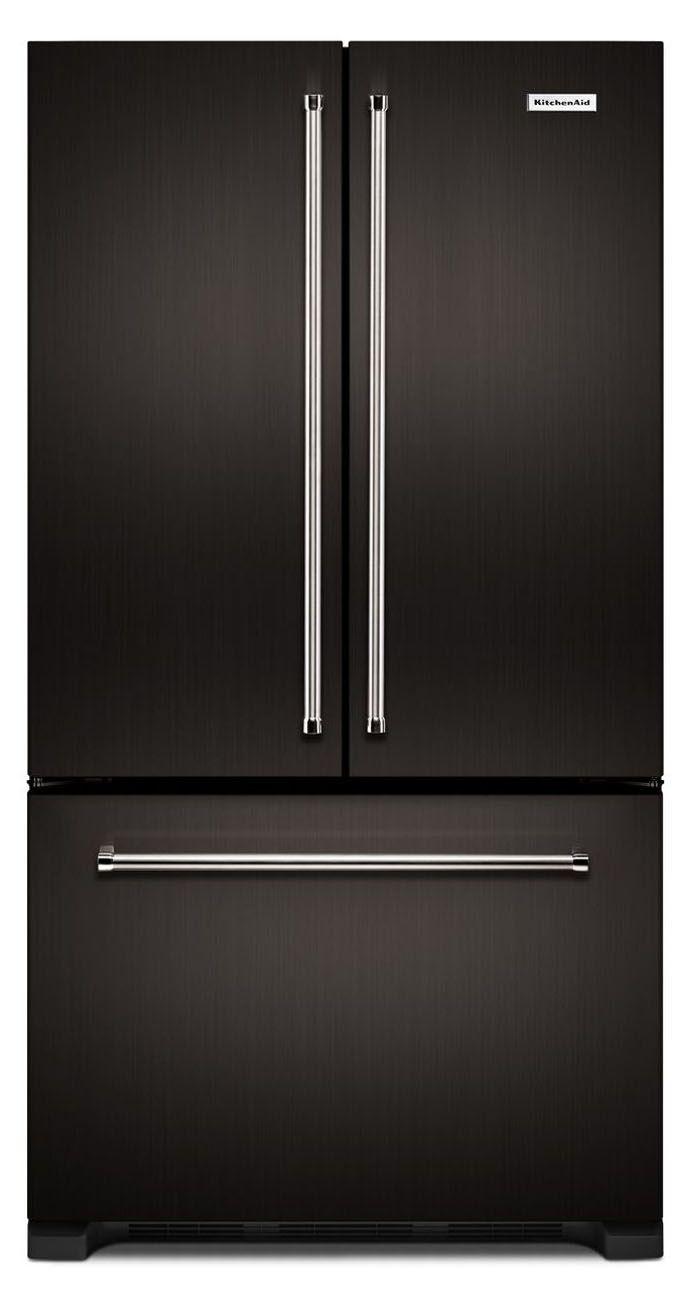 KitchenAid Black Stainless Steel Counter Depth French Door ...