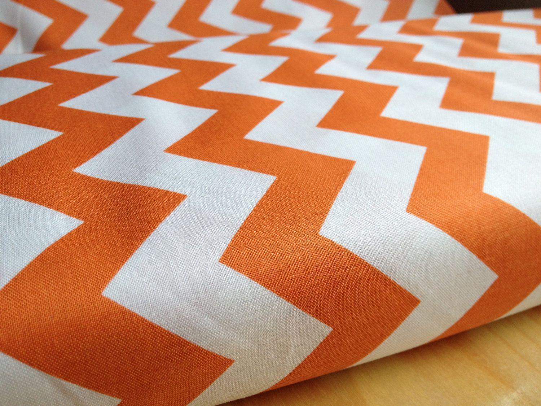 Orange Chevron Fabric by Riley Blake Designs- 1 Yard of Fabric ...