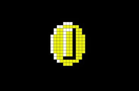 Coin Mario Pixel Art Pixel Art Pixel Art Templates Lego Art