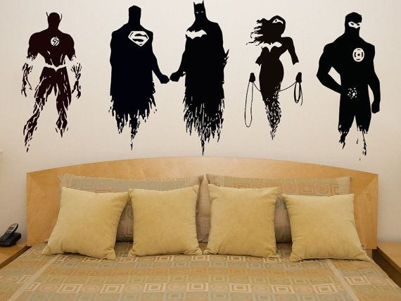 Justice League Wonder Woman Super Hero Bedroom Decal Wall Art Sticker Picture