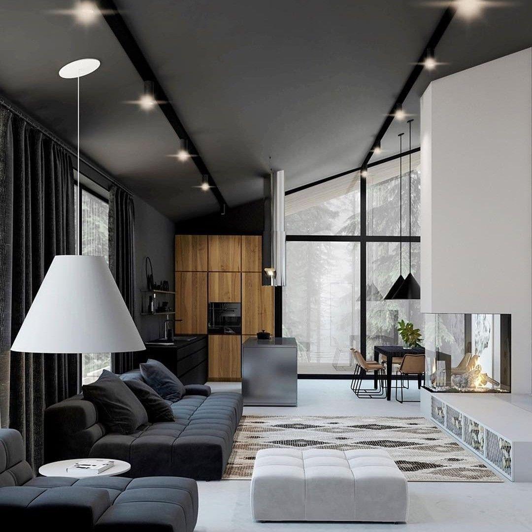 30 Black White Living Rooms That Work Their Monochrome Magic: Pin By Robert Johnson On Custom Interiors