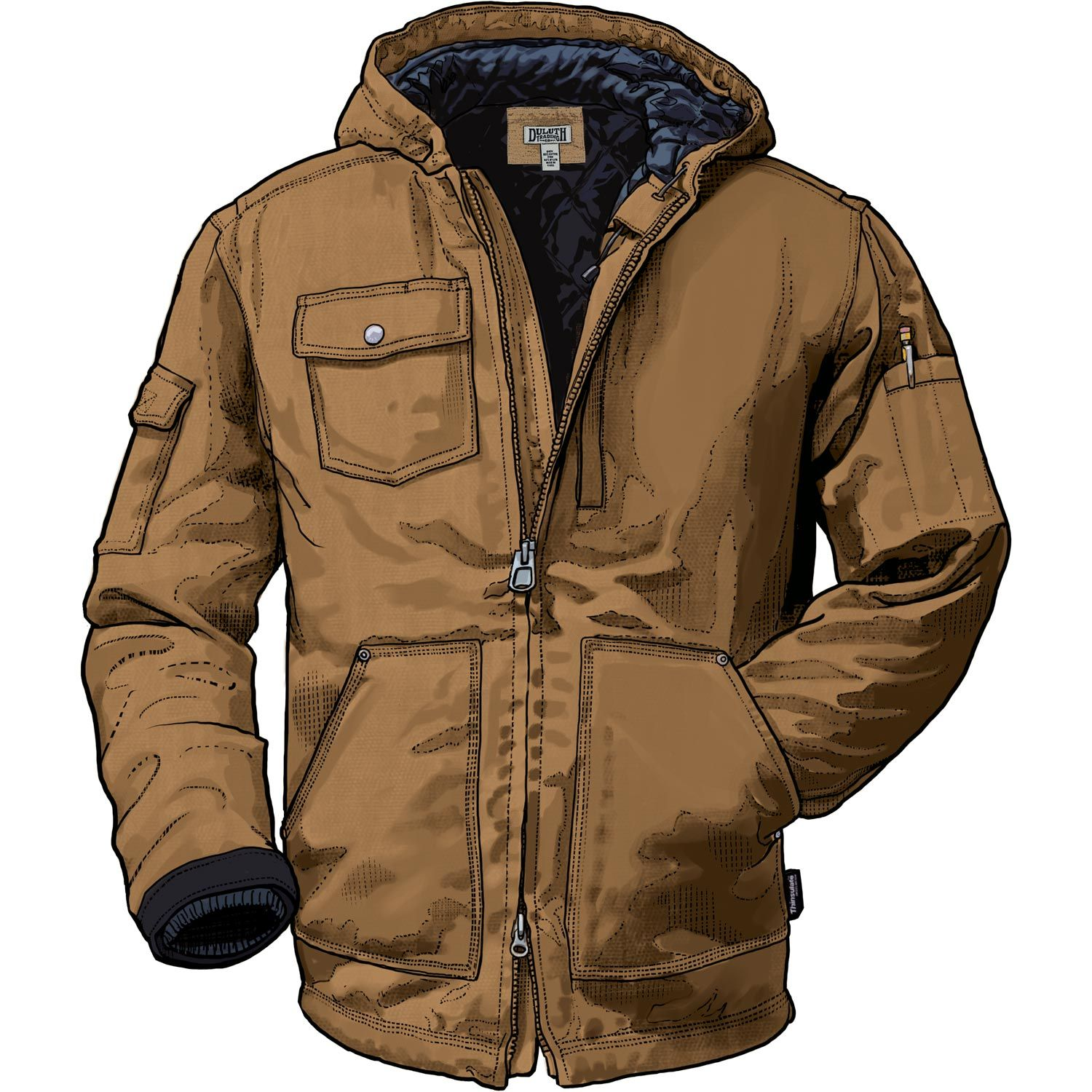 Work jackets don t get more rugged, protective and pocket-packed than the  insulated Superior Hooded Work Coat made with rugged Fire Hose  canvas. c5455fea4b
