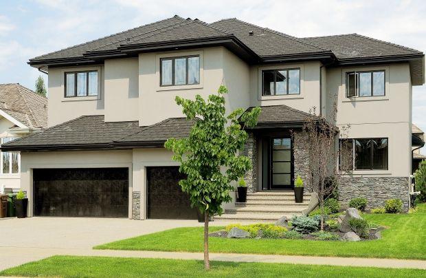 black stucco house - Google Search Restortaion-EXTERIOR