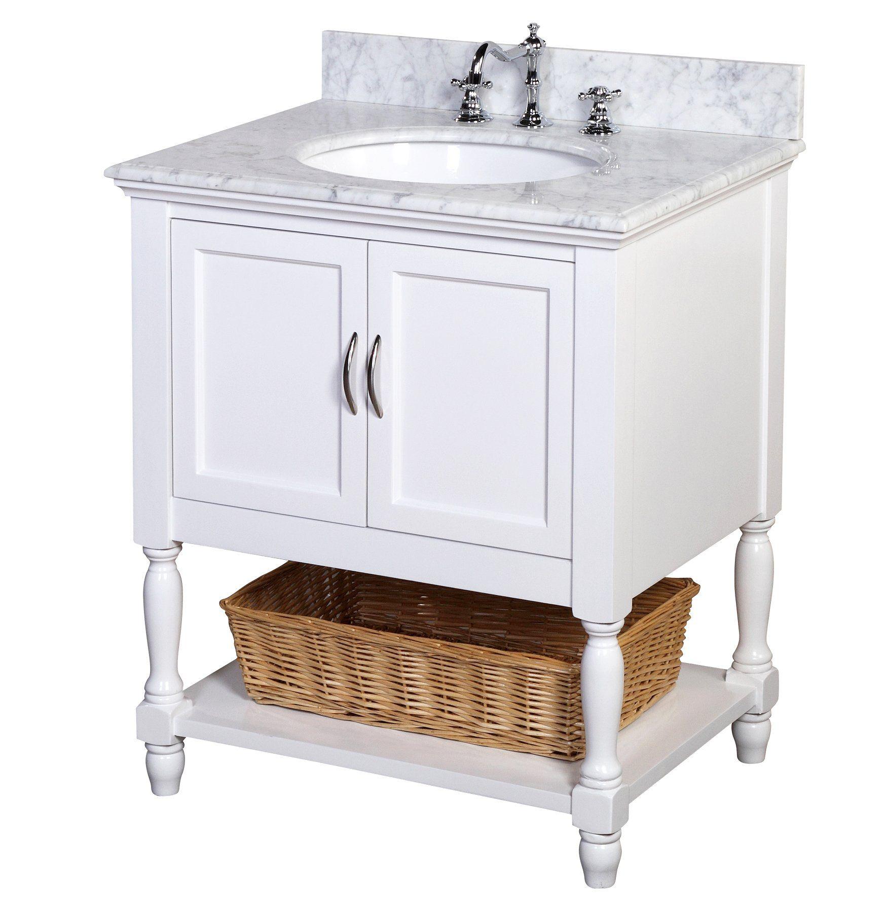 Beverly 30 Inch Bathroom Vanity Carrara White Includes An Italian Carrara Marble Countertop A 24 Inch Bathroom Vanity Single Bathroom Vanity 24 Inch Vanity
