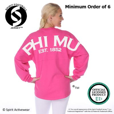 7f1e8ee3b39 Price decreases as the quantity increases!  somethinggreek  spiritjersey   sorority  somethinggreek  greek  clothing. Sorority Spirit Football Jerseys  ...