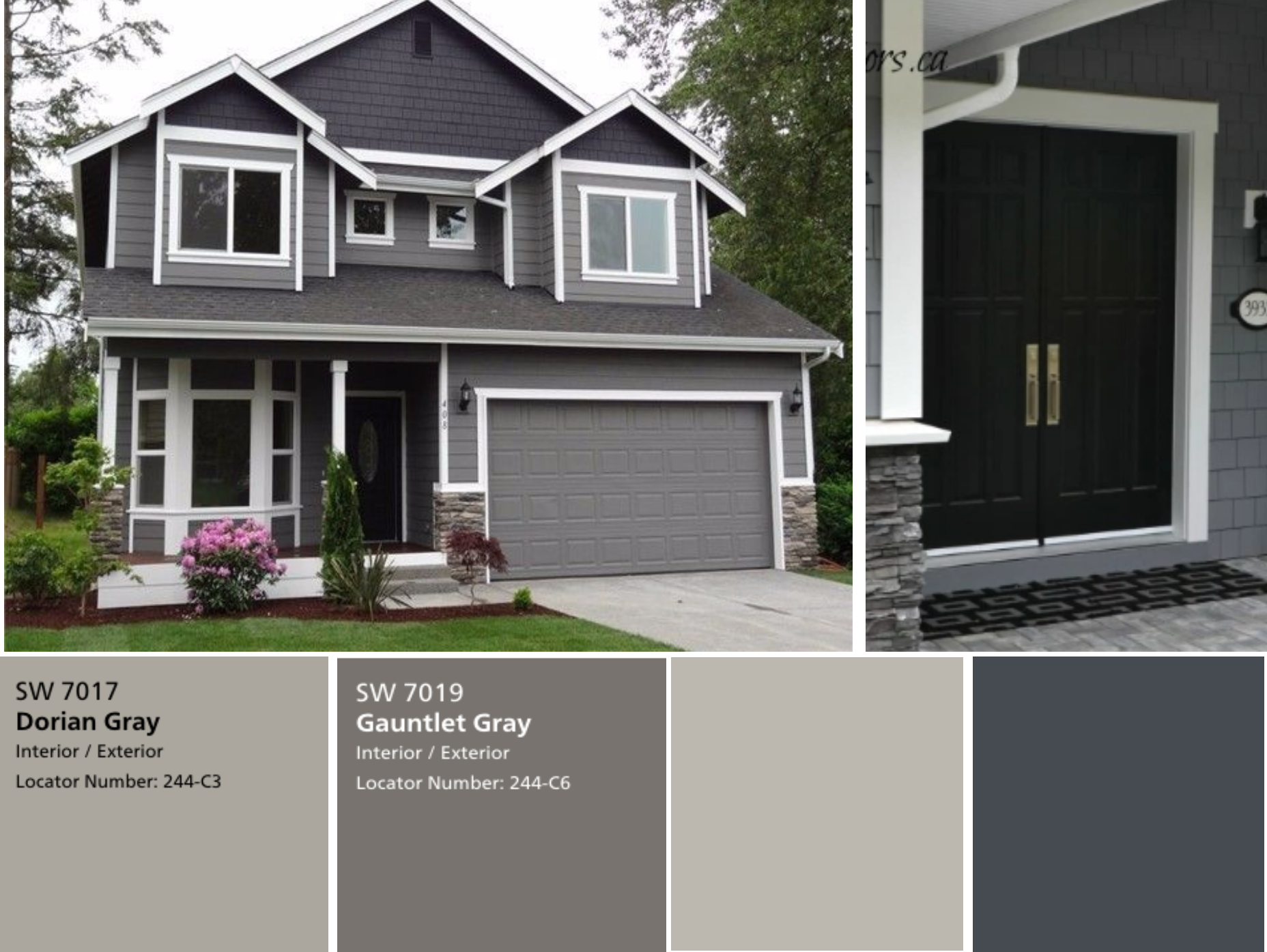 We Have The Exterior Painted Already With Sherwin Williams Dorian Gray For The Siding And