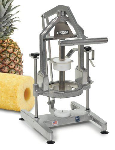 "Nemco Easy Pineapple Corer/Peeler - 3-1/2"" by Nemco. $509.76. Take all the labor out of prepping a pineapple. Nemco latest countertop innovation completely removes the core and peel with one simple pull of its easy-action, top-down lever. Saves time, effort and food waste. A locking mechanism keeps the handle/blade in the up position while loading a pineapple. Tough aluminum and stainless steel construction and easy disassembly for cleaning extend the life of the un..."