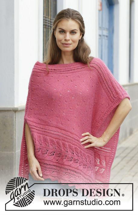 Scarborough Fair Free Lace Poncho Knitting Pattern | Lace patterns ...