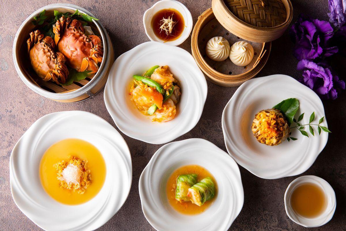 上海蟹シーズン到来 シャンパンと合わせたコース料理に舌鼓 料理