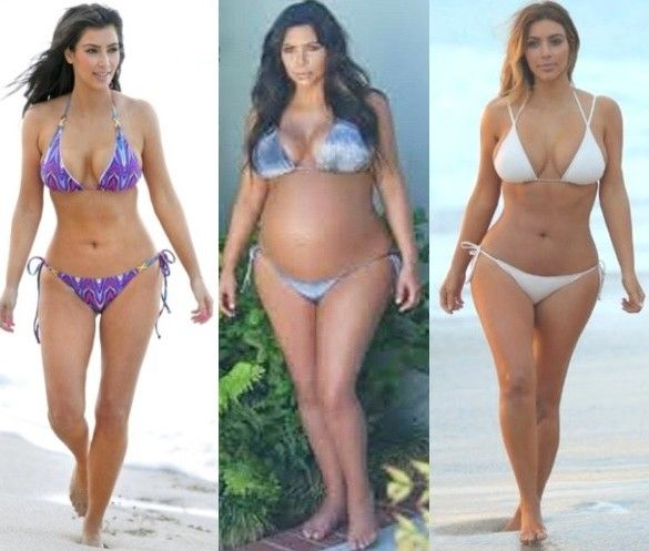 Kim Kardashian After Baby Weight Loss