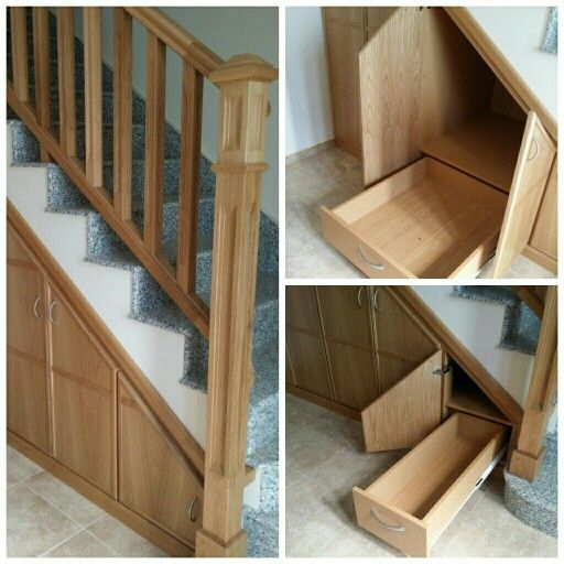 Mueble bajo escalera casa pinterest pasamanos roble for Mueble bajo escalera