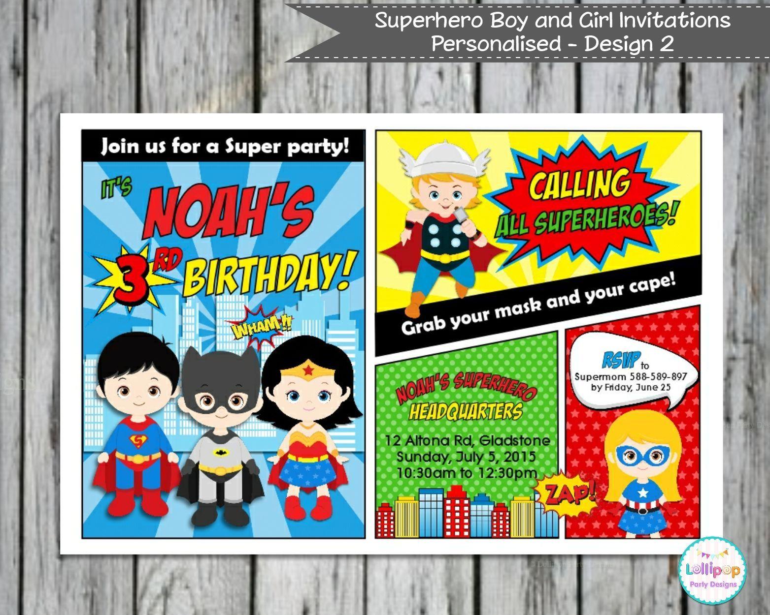 Superhelden Einladung Selber Basteln | Geburtstag Einladung ...