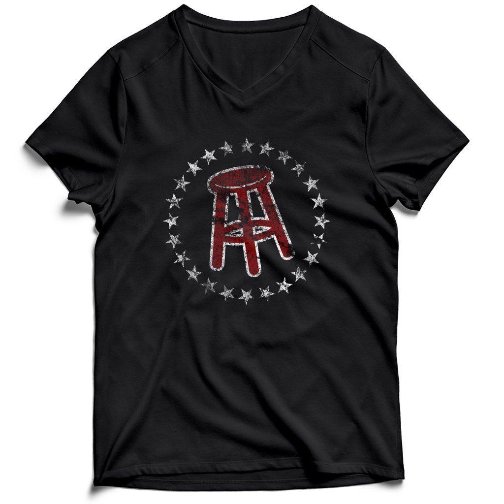Barstool Sports Logo Grunge Men's VNeck Tee TShirt in