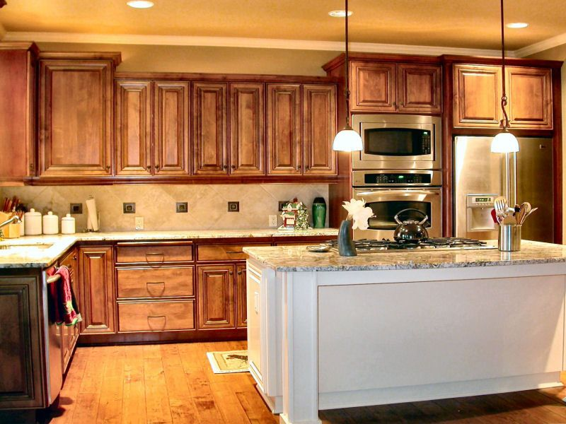i love this teak color as well! kitchen cabinets | custom made