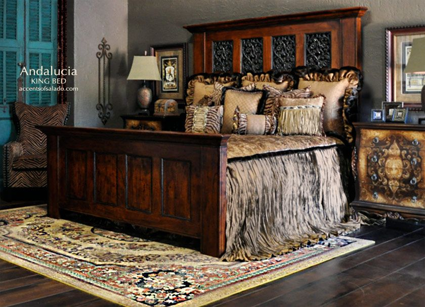 Andalucia Old World Tuscan Bedroom Furniture Tuscan Bedroom
